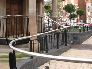 Curved Stainless Steel Hand Rail