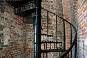 Powdercoated spiral staircase